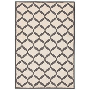 "Nourison Decor1 2'6"" X 3'10"" White/Light Grey Rug"