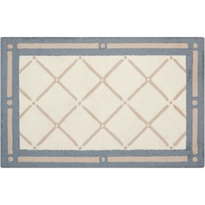 "Nourison Decor1 1'9"" X 2'10"" Light Blue Rug"