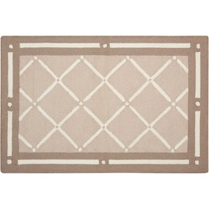 "Nourison Decor1 1'9"" X 2'10"" Tan Rug"