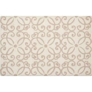 "Nourison Decor1 2'6"" X 3'10"" Cream Rug"