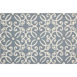 "Nourison Decor1 2'6"" X 3'10"" Light Blue Rug"