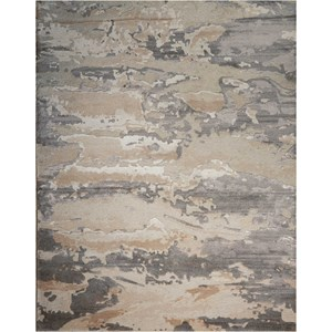 "Nourison Divine 5'6"" x 7'5"" Ash Rectangle Rug"