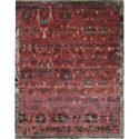 "Nourison Dune 5'6"" x 8' Pomegranate Area Rug - Item Number: 12160"