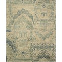 "Nourison Dune 5'6"" x 8' Sea Area Rug - Item Number: 12185"