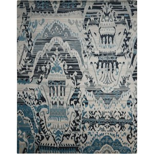 "Nourison Dune 7'9"" x 9'9"" Indigo Rectangle Rug"