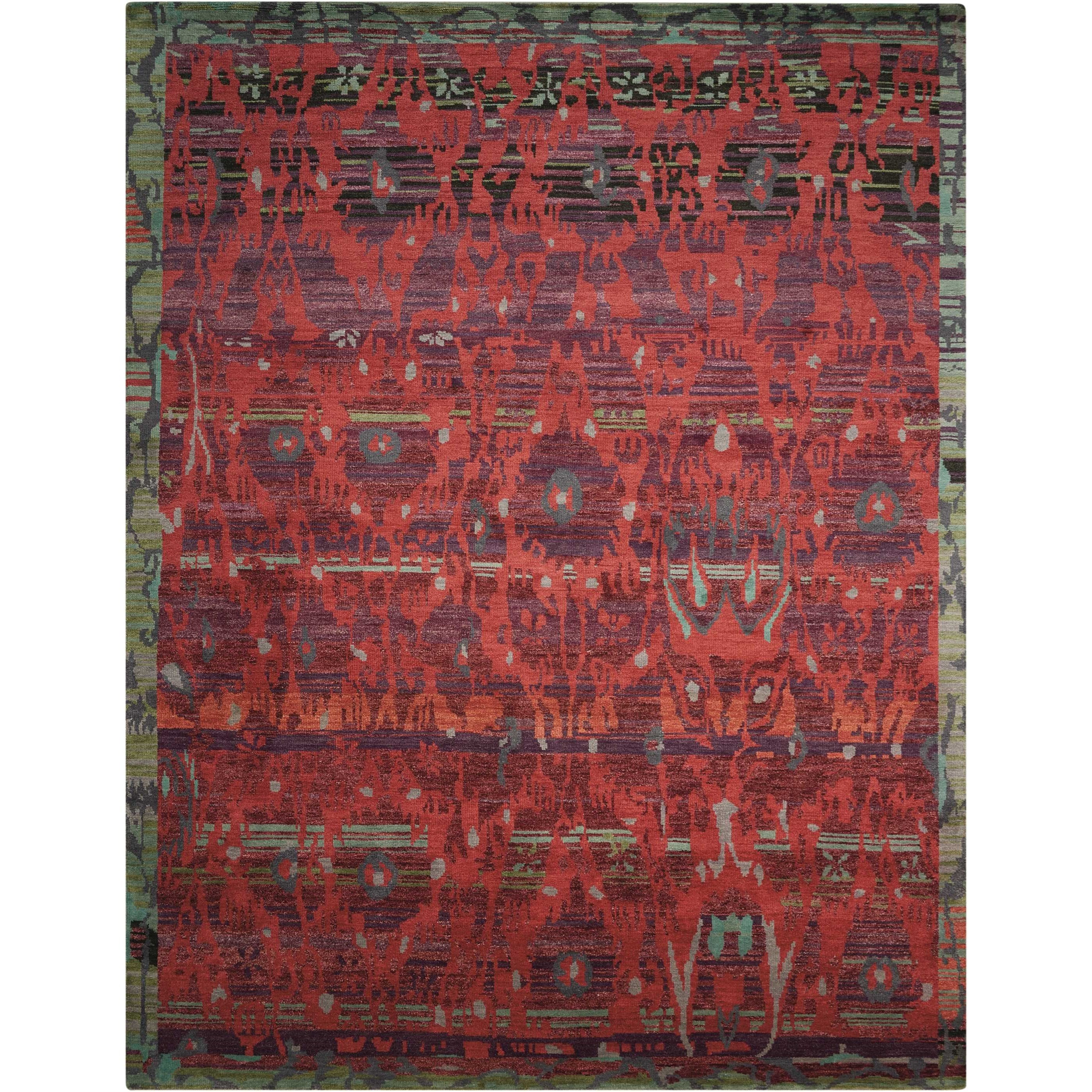 "5'6"" x 8' Pomegranate Rectangle Rug"