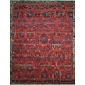 "Nourison Dune 5'6"" x 8' Pomegranate Rectangle Rug - Item Number: DUN02 POMEG 56X8"