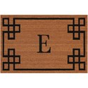 Nourison Elegant Entry 2' x 3' Natural Rectangle Rug - Item Number: EECME NAT 2X3