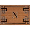 Nourison Elegant Entry 2' x 3' Natural Rectangle Rug - Item Number: EECMN NAT 2X3