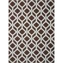 Nourison Enhance 5' x 7' Choclate/Blue Rectangle Rug - Item Number: EN003 CHOBL 5X7