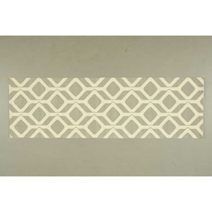 "Nourison Enhance 2'6"" x 8' Grey Runner Rug"