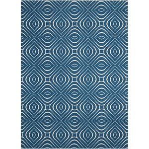 Nourison Enhance 8' x 10' Cadet Blue Rectangle Rug