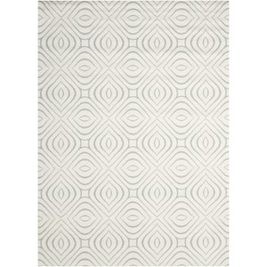 "Nourison Enhance 2'6"" x 8' Iv/Grey Runner Rug"