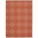 Nourison Enhance 4' x 6' Paprika Rectangle Rug - Item Number: EN004 PAPRK 4X6