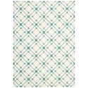 Nourison Enhance 4' x 6' Ivory/Turquoise Rectangle Rug - Item Number: EN005 IVTUR 4X6