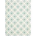 Nourison Enhance 5' x 7' Ivory/Turquoise Rectangle Rug - Item Number: EN005 IVTUR 5X7