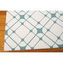 Nourison Enhance 8' x 10' Ivory/Turquoise Rectangle Rug