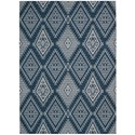 "Nourison Enhance 2'6"" x 4' Blue Rectangle Rug - Item Number: EN198 BL 26X4"