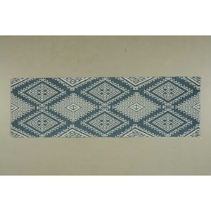 "Nourison Enhance 2'6"" x 8' Blue Runner Rug"