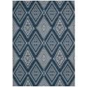 Nourison Enhance 5' x 7' Blue Rectangle Rug - Item Number: EN198 BL 5X7