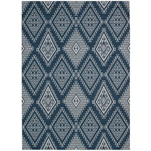 8' x 10' Blue Rectangle Rug