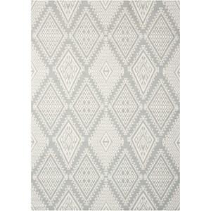 Nourison Enhance 4' x 6' Grey Rectangle Rug