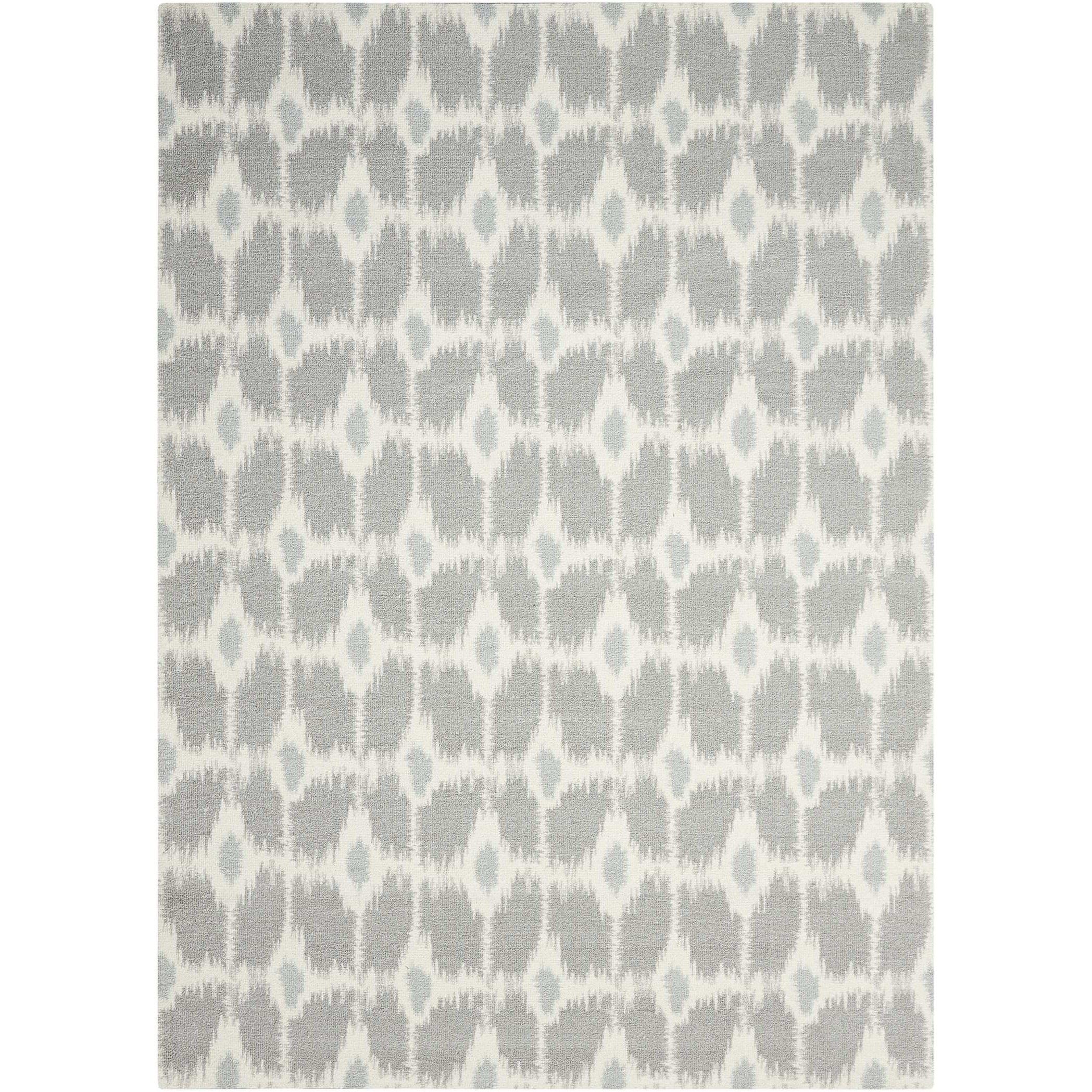 Nourison Enhance 4' x 6' Grey Rectangle Rug - Item Number: EN199 GRY 4X6