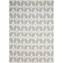 Nourison Enhance 4' x 6' Grey Rectangle Rug - Item Number: EN199 GRY 4X6