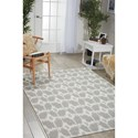 Nourison Enhance 4' x 6' Grey Rectangle Rug