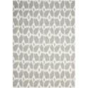Nourison Enhance 8' x 10' Grey Rectangle Rug - Item Number: EN199 GRY 8X10