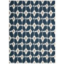 "Nourison Enhance 2'6"" x 4' Navy Rectangle Rug - Item Number: EN199 NAV 26X4"