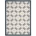 Nourison Enhance 5' x 7' Blue Rectangle Rug - Item Number: EN200 BL 5X7