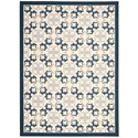 Nourison Enhance 8' x 10' Blue Rectangle Rug - Item Number: EN200 BL 8X10