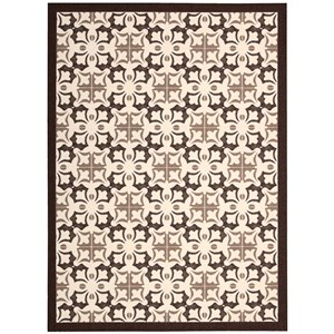 Nourison Enhance 5' x 7' Brown Rectangle Rug