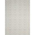 Nourison Enhance 8' x 10' Grey/Beige Rectangle Rug - Item Number: EN202 GYBGE 8X10