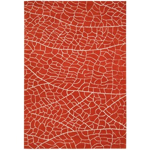 "Nourison Escalade 8' x 10'6"" Flame Rectangle Rug"