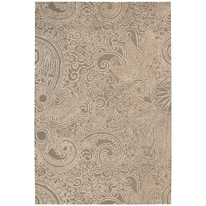 "Nourison Escalade 3'9"" x 5'9"" Cappuccino Rectangle Rug"