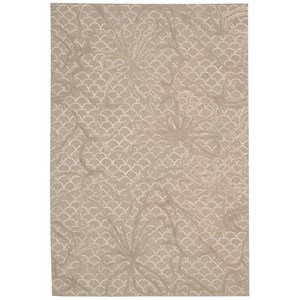 "Nourison Escalade 8' x 10'6"" Latte Rectangle Rug"