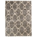"Nourison Escape 5'3"" x 7'3"" Silver Rectangle Rug - Item Number: ESCP2 SIL 53X73"
