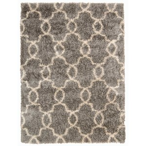"Nourison Escape 7'10"" x 9'10"" Silver Rectangle Rug"