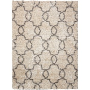 "Nourison Escape 3'11"" x 5'11"" White Shades Rectangle Rug"
