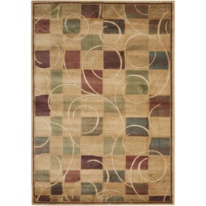 "Nourison Expressions 5'3"" x 7'5"" Beige Rectangle Rug"