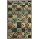 """Nourison Expressions 2' x 2'9"""" Brown Rectangle Rug - Item Number: XP01 BRN 2X29"""