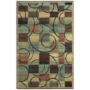 "Nourison Expressions 3'6"" x 5'6"" Brown Rectangle Rug"