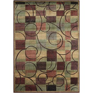 "Nourison Expressions 5'3"" x 7'5"" Brown Rectangle Rug"