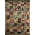 """Nourison Expressions 5'3"""" x 7'5"""" Brown Rectangle Rug - Item Number: XP01 BRN 53X75"""