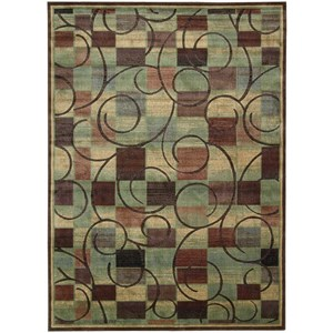 """Nourison Expressions 7'9"""" x 10'10"""" Brown Rectangle Rug"""