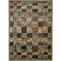 """Nourison Expressions 7'9"""" x 10'10"""" Brown Rectangle Rug - Item Number: XP01 BRN 79X1010"""