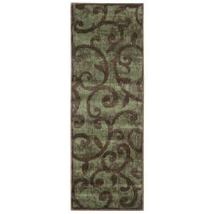 "Nourison Expressions 2' x 5'9"" Brown Runner Rug"