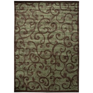 "Nourison Expressions 9'6"" x 13'6"" Brown Rectangle Rug"